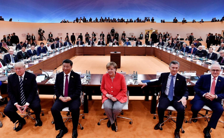 Merkel noted during the meet that the countries at the summit represent two-thirds of the world population, four-fifths of the globe's gross domestic product and three-quarters of world trade. Reuters