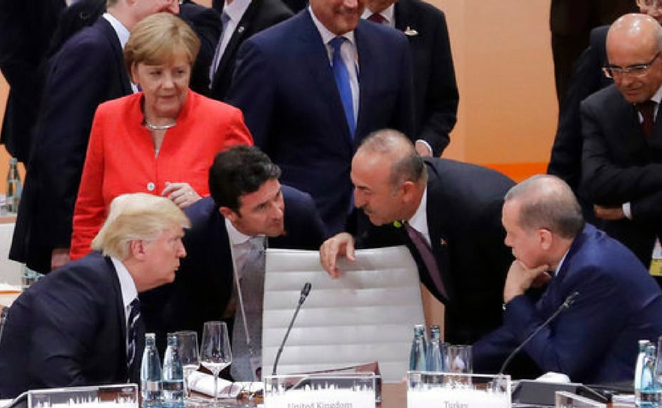 The G20 comprises Argentina, Australia, Brazil, China, Germany, France, Britain, India, Indonesia, Italy, Japan, Canada, South Korea, Mexico, Russia, Saudi Arabia, South Africa, Turkey, the United States and the European Union. Reuters