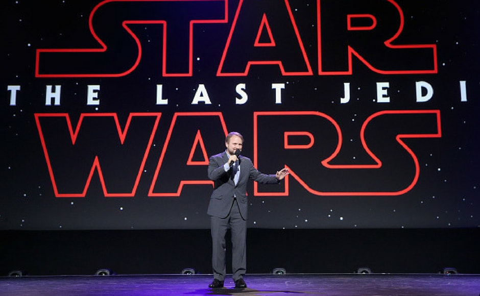 Director Rian Johnson of STAR WARS: THE LAST JEDI took part today in the Walt Disney Studios live action presentation at Disney's D23 EXPO 2017 in Anaheim, Calif.STAR WARS: THE LAST JEDI will be released in U.S. theaters on December 15, 2017. (Getty Images)