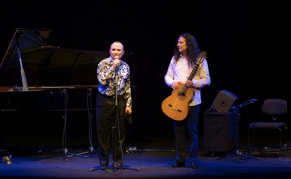 Jazz pianist Michel Camilo and flamenco guitarist Tomatito during his concert at the Teatro Real in Madrid. Spain July 18, 2017 (Getty Images)