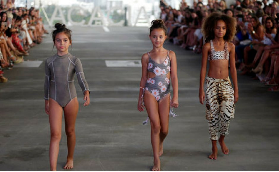 More designs from Acacia swimwear during Swim Week in Miami Beach. (AP Photo)