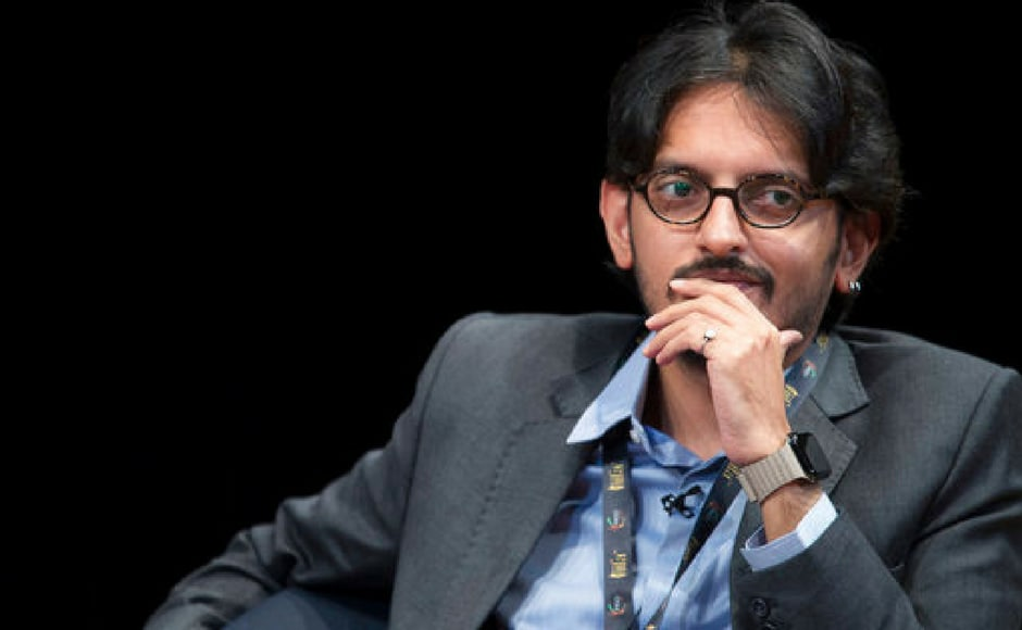 Director Vishesh Bhatt speaks during a panel discussion on Media and Entertainment at the Asia Society in New York. (AP Photo)