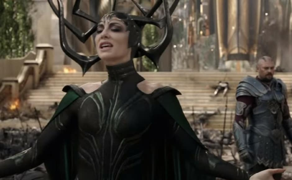 Cate Blanchett plays the role of Hela in Thor: Ragnarok. Image via Youtube