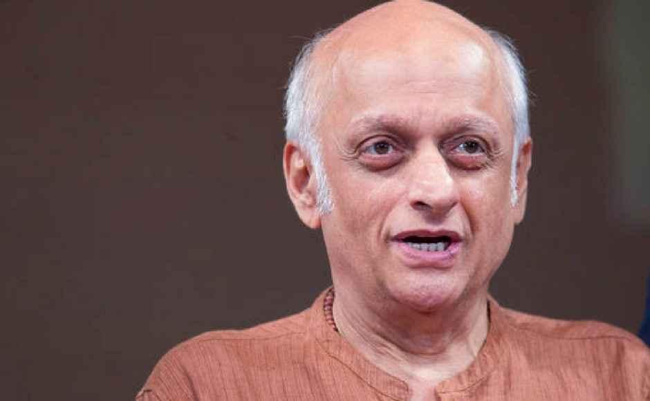 Film producer Mukesh Bhatt speaks during a panel discussion on Media and Entertainment at the Asia Society, Friday, July 14, 2017, in New York.
