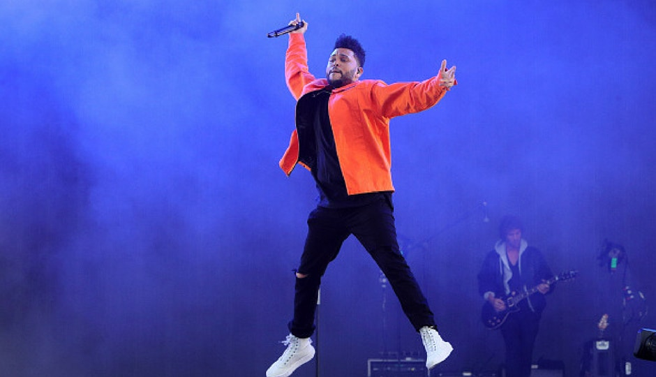 The Weeknd performs on day 3 of Wireless Festival at Finsbury Park in London, England. (Getty Images)