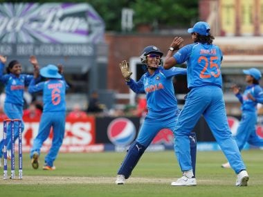 India players celebrate a New Zealand wicket. Reuters