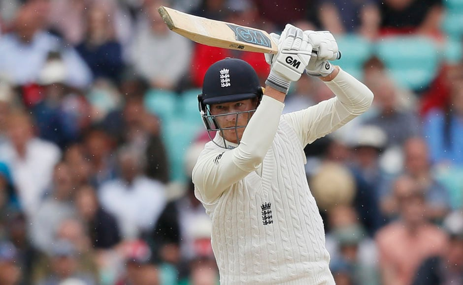 England's Tom Westley plays a shot off the bowling of South Africa's Chris Morris on the third day of the third test match between England and South Africa at The Oval cricket ground in London, Saturday, July 29, 2017. (AP Photo/Kirsty Wigglesworth)