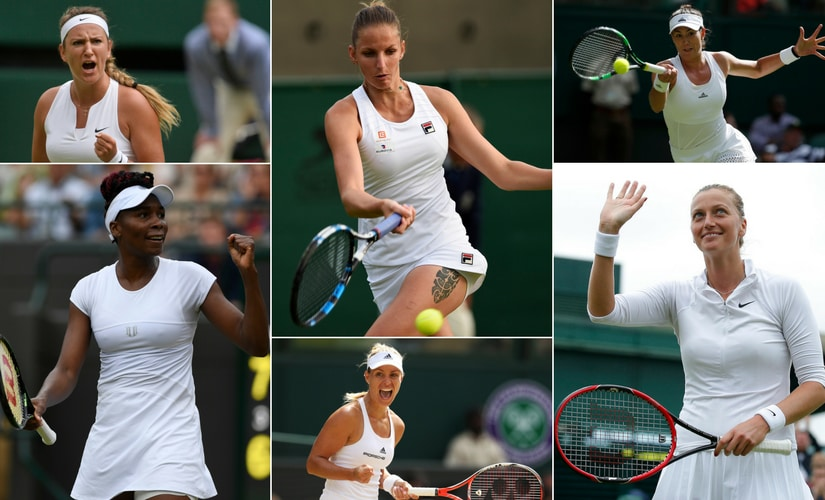 The main contenders for the title in the women's draw. Reuters