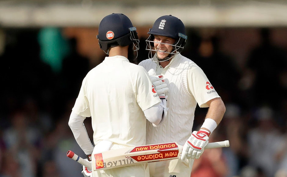 England consolidated and got to a very comfortable position on the opening day courtesy the 167-run partnership between Joe Root(R) and Moeen Ali. AP