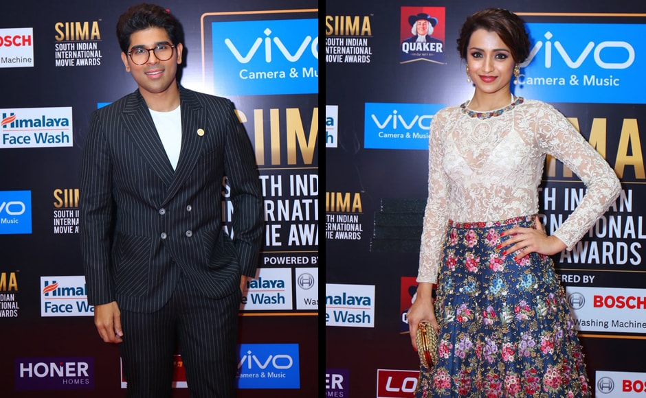 Allu Sirish and Trisha Krishnan at the awards. Image from Twitter.