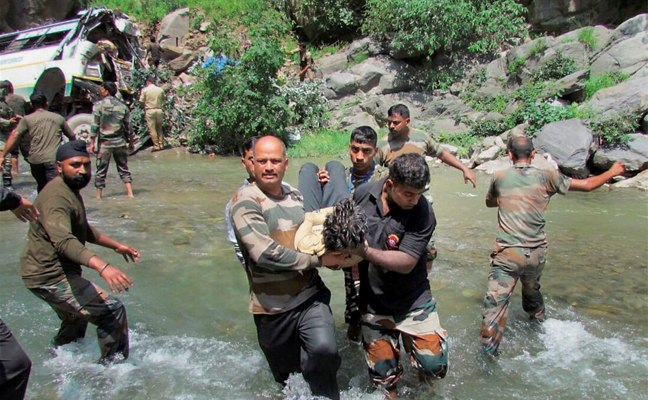 Tragedy hit the Amarnath Yatra once again on Sunday as 16 pilgrims were killed and around 27 were injured when a vehicle carrying them fell into a gorge on the Jammu-Srinagar National Highway in Ramban district. Rescue operations by the army are currently underway. PTI