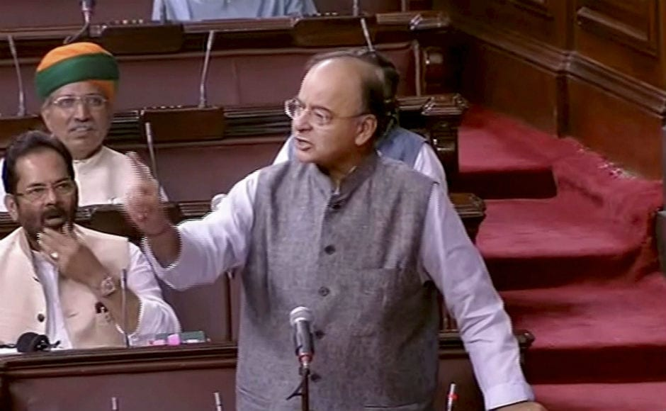 Defending the government, Union finance minister Arun Jaitley said the government was ready for a discussion which could be held immediately.PTI