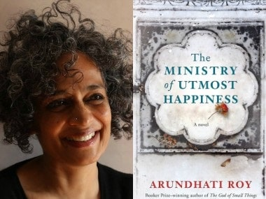 Arundhati Roy and her novel The Ministry of Utmost Happiness. Images from Facebook