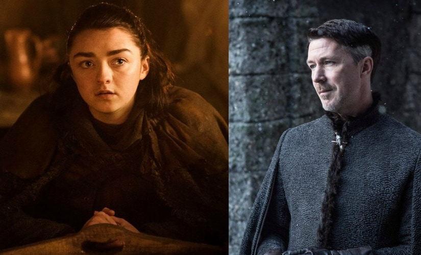 Arya Stark and Petyr 'Littlefinger' Baelish. Images from Facebook and Twitter