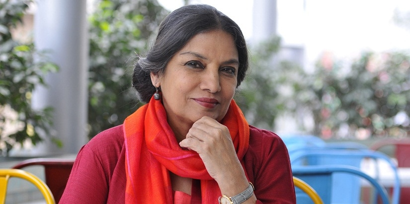 GURGAON, INDIA - DECEMBER 5: Bollywood actress of film, television and theatre Shabana Azmi on the second day of the Gurgaon International Film and Literature Festival on December 5, 2015 in Gurgaon, India. (Photo by Abhinav Saha/Hindustan Times via Getty Images)