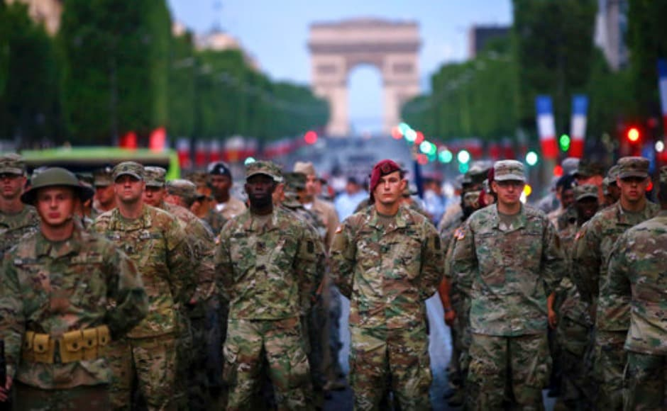It's the oldest military parade in the world and thousands of people line the streets to watch. The Sun reported that the event is the oldest military parade in the world, and thousands of people line the streets to watch. It is usually opened by the French president, who addresses the troops. World leaders also attend the event. AP