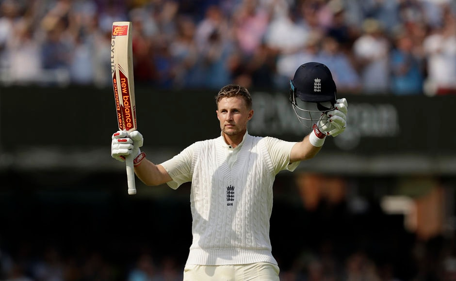Joe Root became the sixth Englishman to score a century in his first test as captain. AP