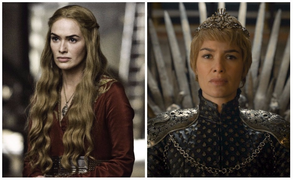 Cersei's tresses were shorn just before her walk of shame. But when she crowned herself Queen of the Seven Kingdowms, she also eschewed her feminine gowns for an armour-like, no-frills look.