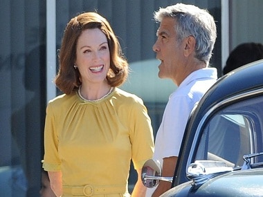 A still from the sets of Suburbicon. Twitter