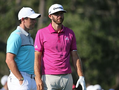 World Number 1 Dustin Johnson and Number 4 Rory Mcilroy paired together. Getty Images