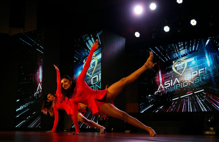 Jegatha Muralidharan and Tejaswi Madivada also participated in the competition and looked stunning in red. Image from PTI.