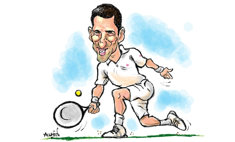 Will Novak Djokovic prevail or falter, in his comeback bid at Wimbledon 2017? Illustration by Austin Coutinho