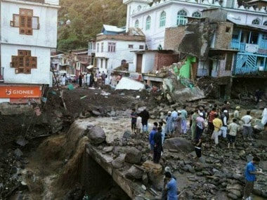 Six persons were killed and 11 injured after flash floods triggered by a cloudburst wreaked havoc in Thathri town of Doda district of Jammu and Kashmir on Thursday. AFP