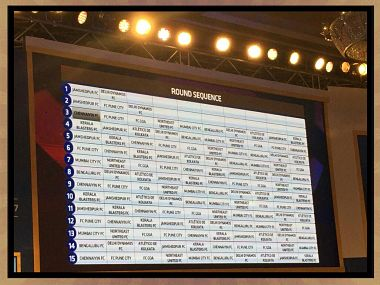 Image of the ISL draft order. Twitter/@jamshedpurISL