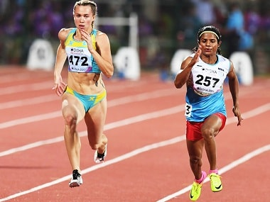 Dutee Chand will play a key role in Indian women's relay team on Saturday. AFP