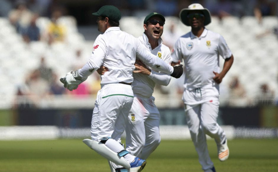 Alastair Cook is always a prized scalp for the opposition and understandably, the joy of the South African players knew no bounds when they saw the back of the crafty England opener. AP