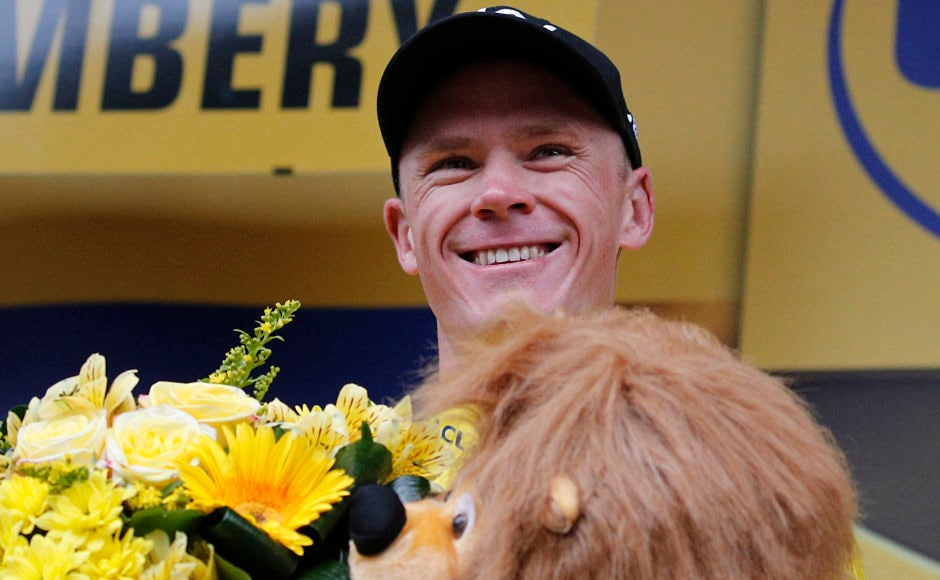Britain's Chris Froome, third in the ninth stage of Tour de France 2017, retained the overall leader's yellow jersey in a race that was plagued by devastating accidents and crashes. AP