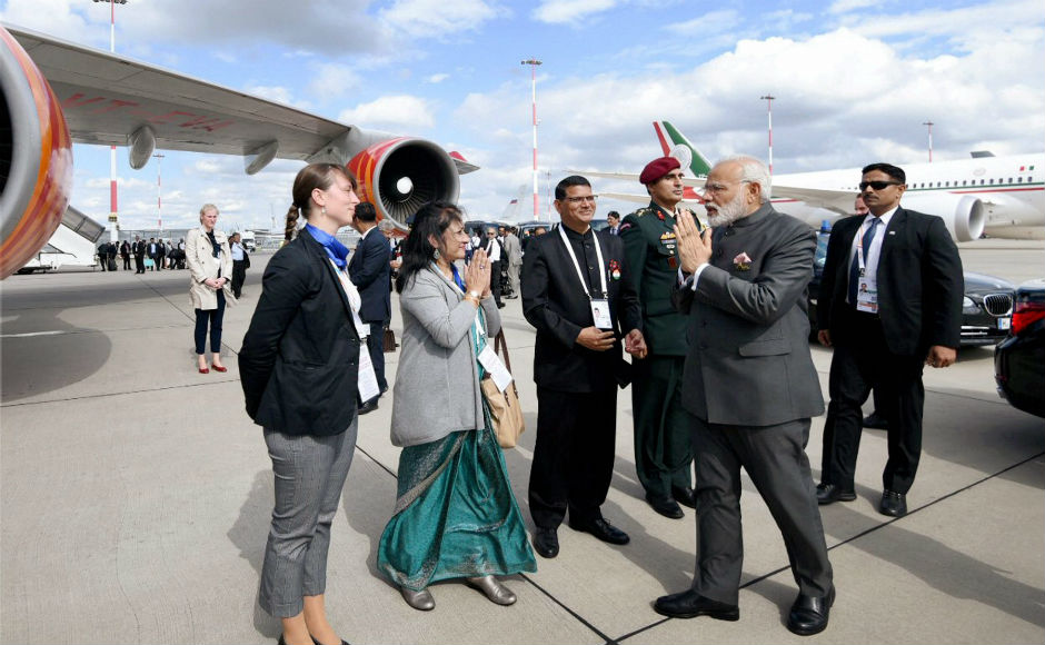 Modi left Hamburg on Saturday evening at 7.30 pm., following the completion of the two-day G20 summit. PTI