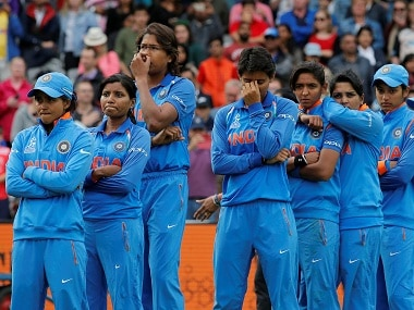 India players look dejected at the end of the final. Reuters
