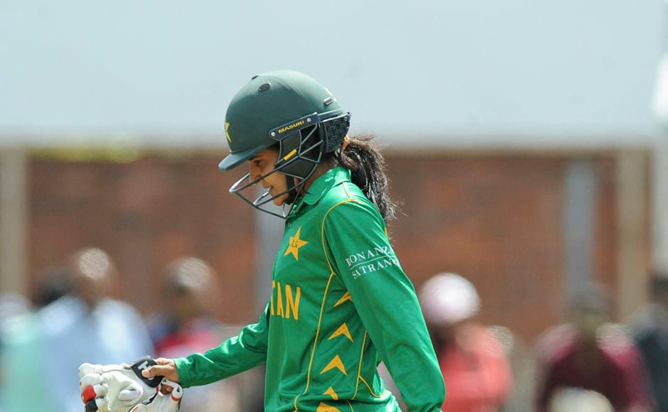 Pakistan lost the plot very early in the innings with only one top order batter reaching double digits. The experienced Javeria Wadood was dismissed by Jhulan Goswami for 6. AP