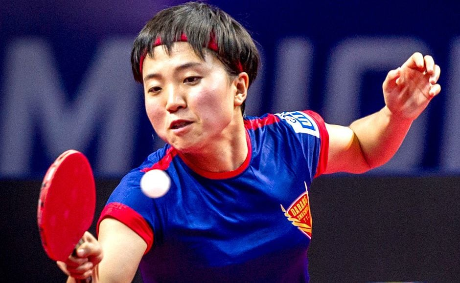 North Korea World No 19 Kim Song I won both her matches and played an important role in Dabang Smashers TTC handing DHFL Maharashtra United their first defeat in UTT. Image courtesy: www.ultimatetabletennis.in