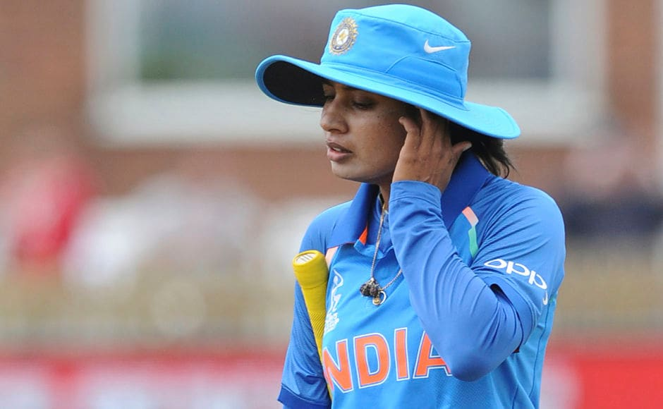 However, wickets fell in a flurry after the wicket of India captain Mithali Raj who was dismissed for a single-digit score for the first time since 2014. AP