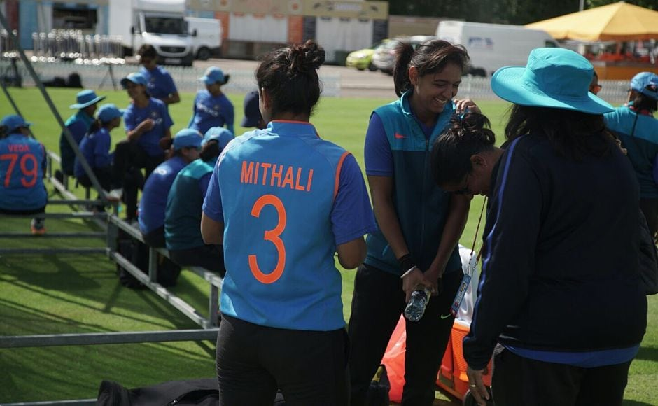 Mithali Raj and teammates train ahead of the final clash against England. They will be looking to build on the momentum gained from the convincing victory over defending champions Australia in the Women's World Cup semi-final Twitter/@m_raj03