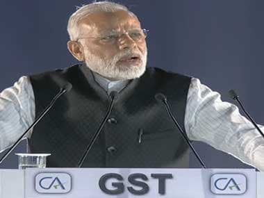 Prime Minister Narendra Modi at the ICAI event on Saturday in New Delhi. Image courtesy Youtube/ DoordarshanNational