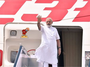 Prime Minister Narendra Modi leaves for Israel. Image courtesy- Ministry of External Affairs