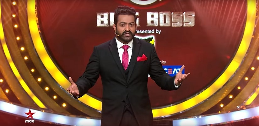 NTR Jr n the sets of Bigg Boss Telugu