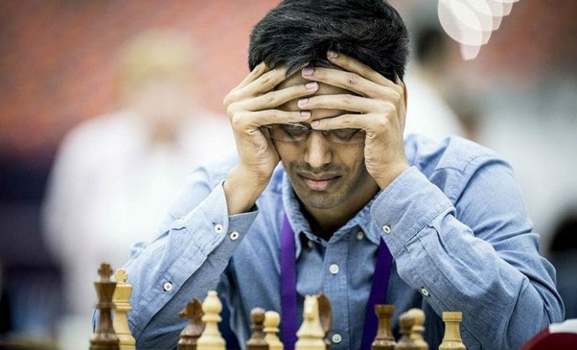 Pentala Harikrishna suffered a disastrous loss in round eight. Image courtesy: David Llada