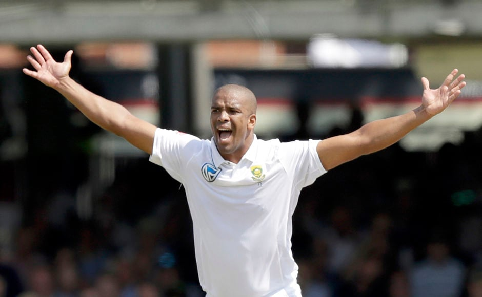 South African spearhead Vernon Philander troubled the England batsmen with his pace and swing. AP