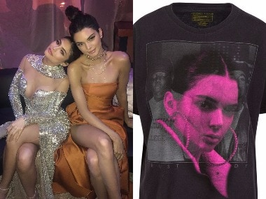 Kylie and Kendall Jenner - Vintage T-shirt. Images from Twitter.