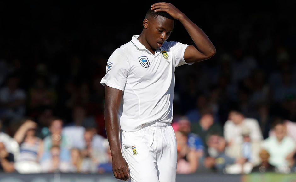 Kagiso Rabada's fiery bowling troubled the English batsmen but couldn't make any sort of breakthrough. Earlier, Rabada was suspended from playing in the next Test match on disciplinary charges. AP