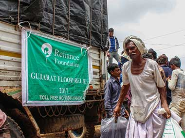 Relief work in Banaskatha districts of Gujarat. Twitter @ ril_foundation