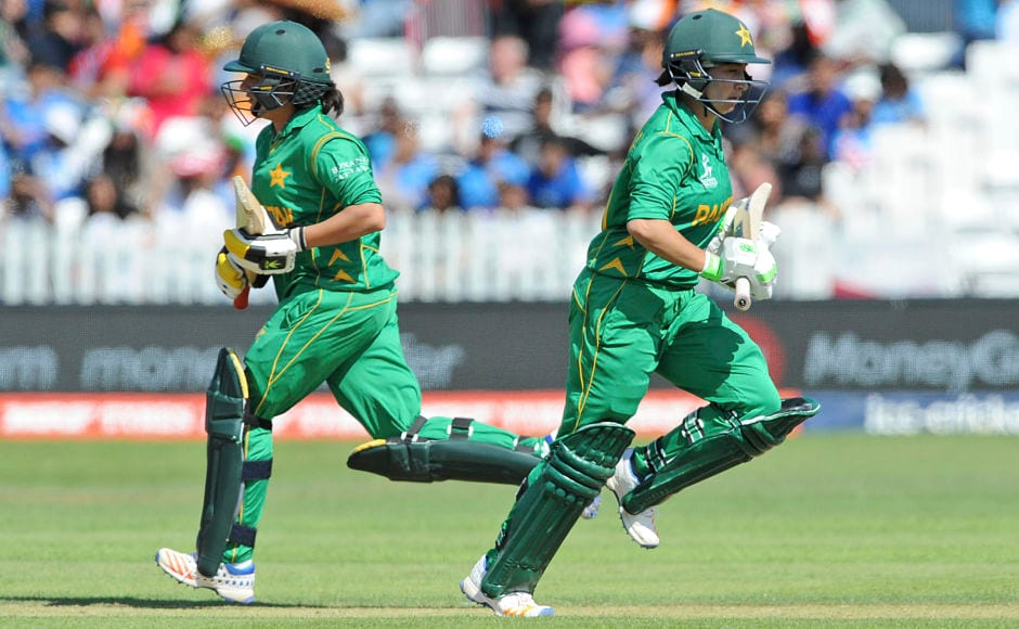 Bibi Nahida(R) and Sana Mir tried to delay the inevitable with a spirited display that showed what the batters could have done to complement their bowling.AP