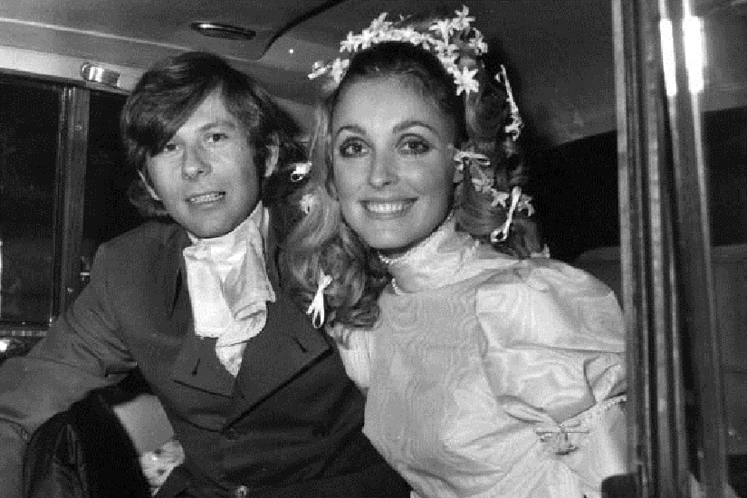 Polish film director Roman Polanski and American actress Sharon Tate (1943 - 1969) at their wedding. She was subsequently murdered by members of Charles Manson's pseudo-religious sect The Family. (Getty Images)