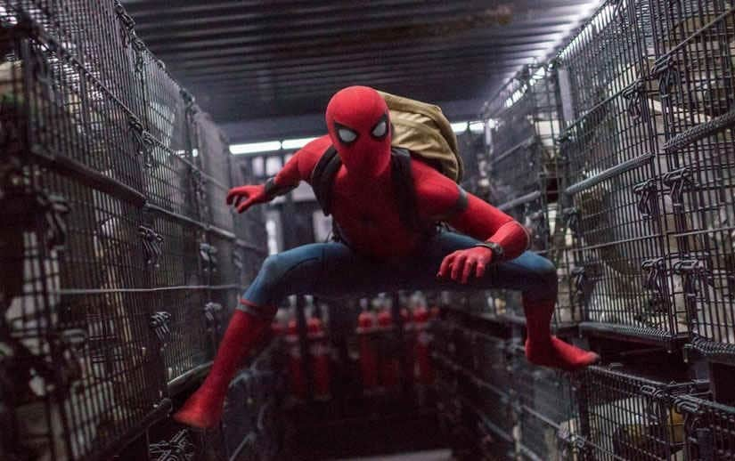 Tom Holland as Spider-Man in Spider-man: Homecoming. Image from AP.