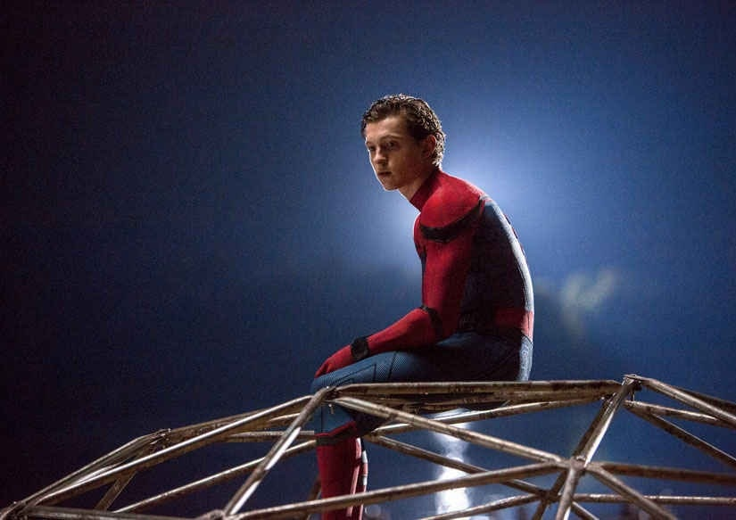 This image released by Columbia Pictures shows Tom Holland in a scene from Spider-man: Homecoming. Image from AP.