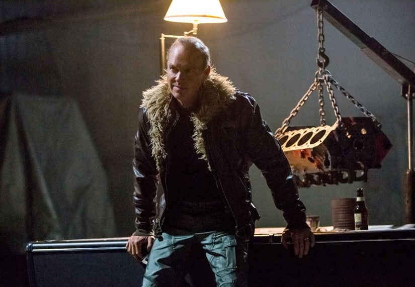 Michael Keaton as the supervillain, Vulture in the film. Image from AP.